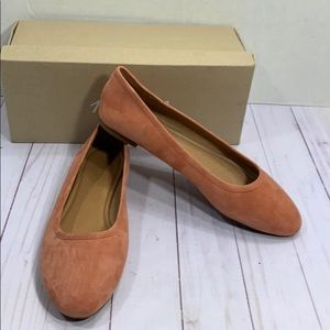 Madewell suede flats sweet Dahlia new in box